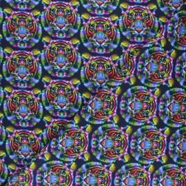 Stenzo Jersey cotton fabric - multicolor Tigre psychédélique x 10cm