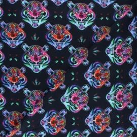 Stenzo Jersey cotton fabric - multicolor Crazy tiger x 10cm