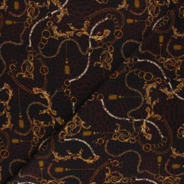 Stenzo Jersey cotton fabric - bordeaux Reign x 10cm