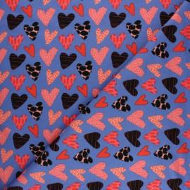 Tissu coton sweat léger gratté Stenzo Aimée - parme x 10cm
