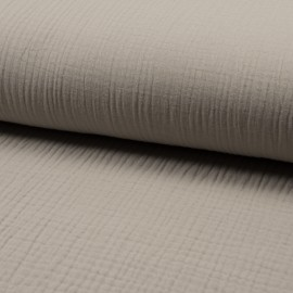 Plain Triple gauze fabric - sand Lovely x 10cm