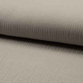 Plain Triple gauze fabric - sand Lovely x 10cm