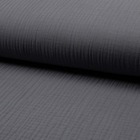 Plain Triple gauze fabric - grey Lovely x 10cm