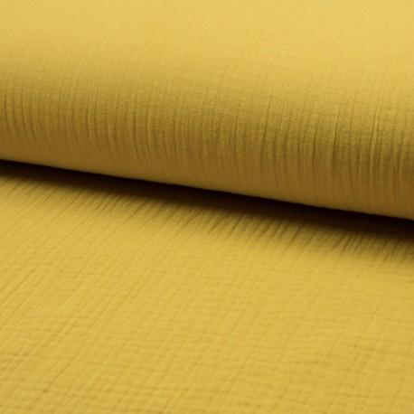 Plain Triple gauze fabric - yellow Lovely x 10cm