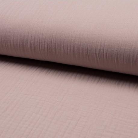 Plain Triple gauze fabric - light pink Lovely x 10cm