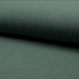 Tissu triple gaze de coton uni Lovely - eucalyptus x 10cm