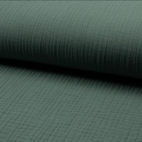Plain Triple gauze fabric - eucalyptus Lovely x 10cm