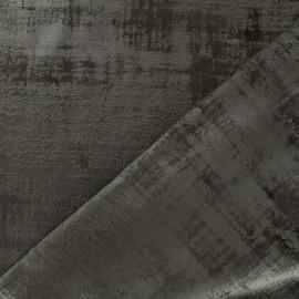Tissu velours Milan Thevenon - chocolat x 10cm