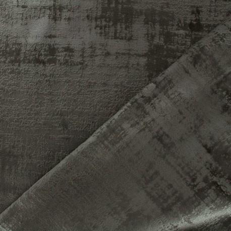 Milan velvet fabric - chocolate x 10cm
