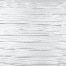 7mm Facemask elastic - White x 1m
