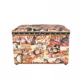 Large Size Sewing Box - Cats