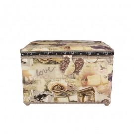 Large Size Sewing Box - Ville de l'amour
