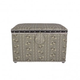 Large Size Sewing Box - grey Florie