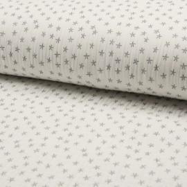 Tissu triple gaze de coton Star - écru x 10cm