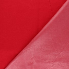 Plain jersey PUL fabric - red x 10cm