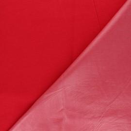 Tissu PUL jersey coton uni - rouge x 10cm