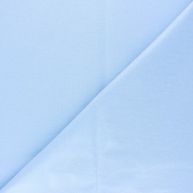 Plain jersey PUL fabric - sky blue x 10cm