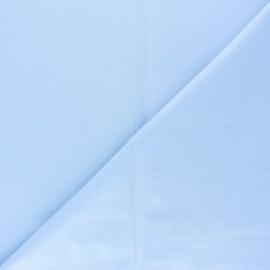 Tissu PUL jersey coton uni - bleu ciel x 10cm