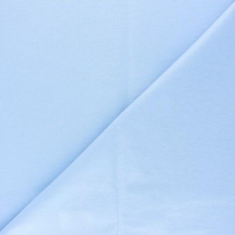 Plain jersey PUL fabric - sky blue x 10cm