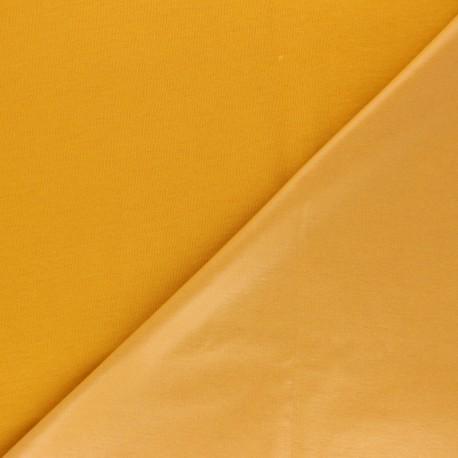 Plain jersey PUL fabric - mustard yellow x 10cm