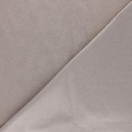 Tissu PUL jersey coton uni - taupe x 10cm