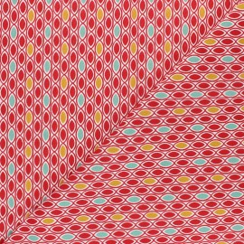 Cotton fabric - red Ada x 10cm