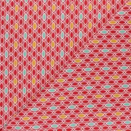 Tissu coton Ada - rouge x 10cm
