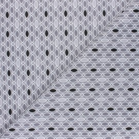 Tissu coton Ada - gris x 10cm