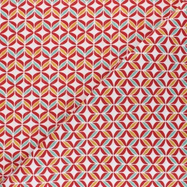 Cotton fabric - red Polly x 10cm