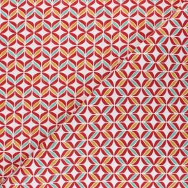 Tissu coton Polly - rouge x 10cm