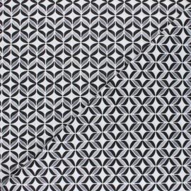 Tissu coton Polly - noir x 10cm