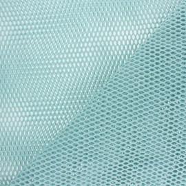 Tissu filet coton bio - bleu clair x 10cm