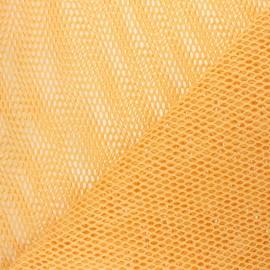 Tissu filet coton bio - jaune x 10cm