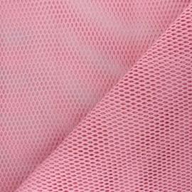 Tissu filet coton bio - rose x 10cm