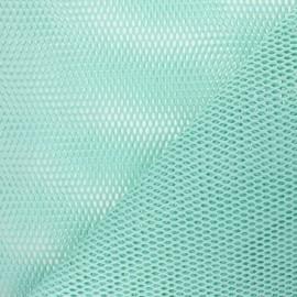 Tissu filet coton bio - vert mint x 10cm
