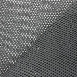Tissu filet coton bio - gris x 10cm