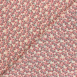 Cretonne cotton fabric - beige Kyle x 10cm