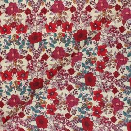 Tissu coton cretonne Madison - beige x 10cm