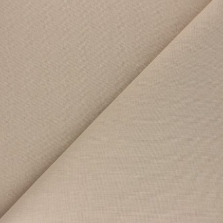 Plain Cotton Fabric - Pebble beige Nuance x 10cm