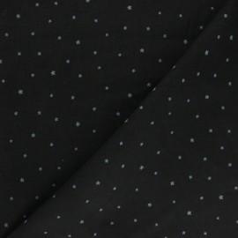 Kokka Milleraies velvet fabric -black Étoile x 10cm