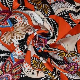 Viscose Fabric - orange Maradi x 10cm