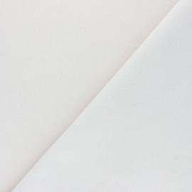 Tissu drap manteau uni Moscou - Écru x 10cm