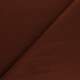 Plain coat sheet fabric - tobacco Moscou x 10cm