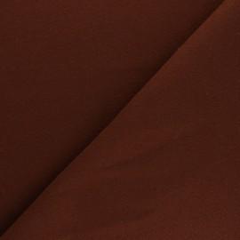 Tissu drap manteau uni Moscou - Tabac x 10cm