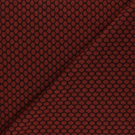 Knitted jersey fabric - rust Tomette x 10cm