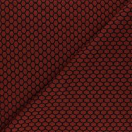 Tissu maille jersey Tomette - Rouille x10cm