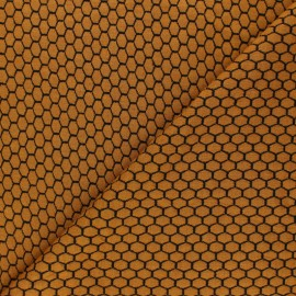 Knitted jersey fabric - mustard Tomette x 10cm