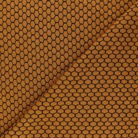 Tissu maille jersey Tomette - Jaune moutarde x10cm