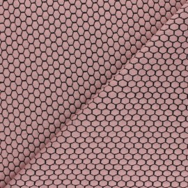 Knitted jersey fabric - light pink Tomette x 10cm