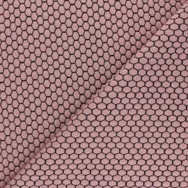 Tissu maille jersey Tomette - Rose pâle x10cm